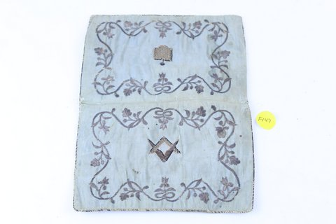 EARLY MASONIC CLOTH WALLET