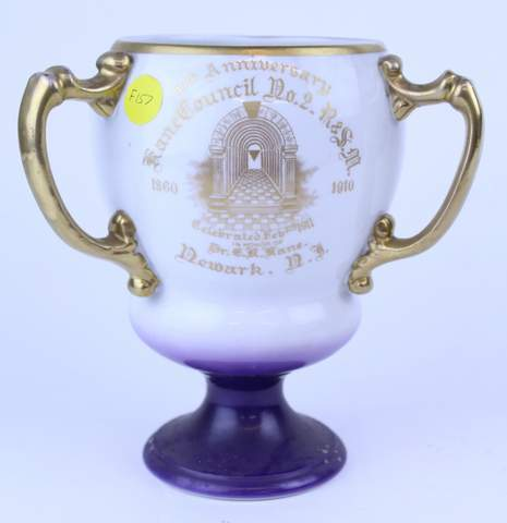 KANE COUNCIL NEWARK N.J. 1910 3 HANDLED TANKARD LOVING CUP
