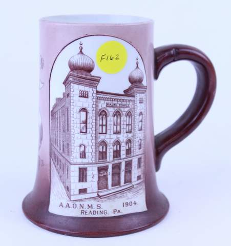 RAJAH SHRINER TEMPLE READING PA MUG 1904