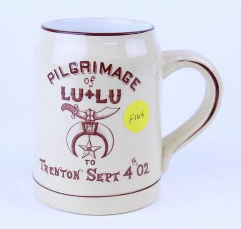 PILGRIMAGE OF LU LU 1902 TANKARD MUG
