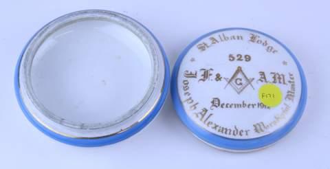ST. ALBAN LODGE #529 JOSEPH ALEXANDER POWDERBOX 1912