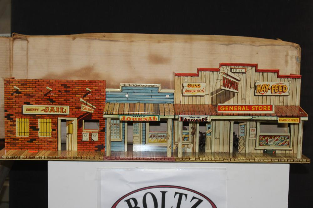 Vintage Marx Western Town Playset/Jail and General Store Scene