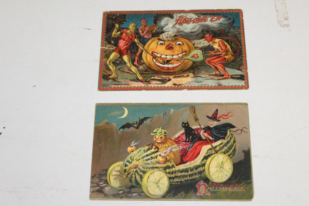 2 Early Halloween Postcards (A)
