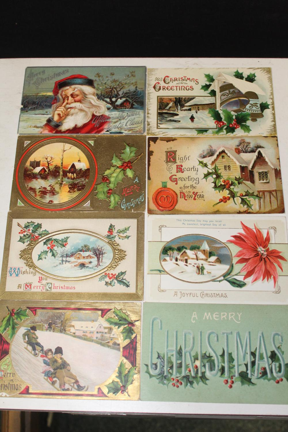 8 Early Christmas Postcards (A)