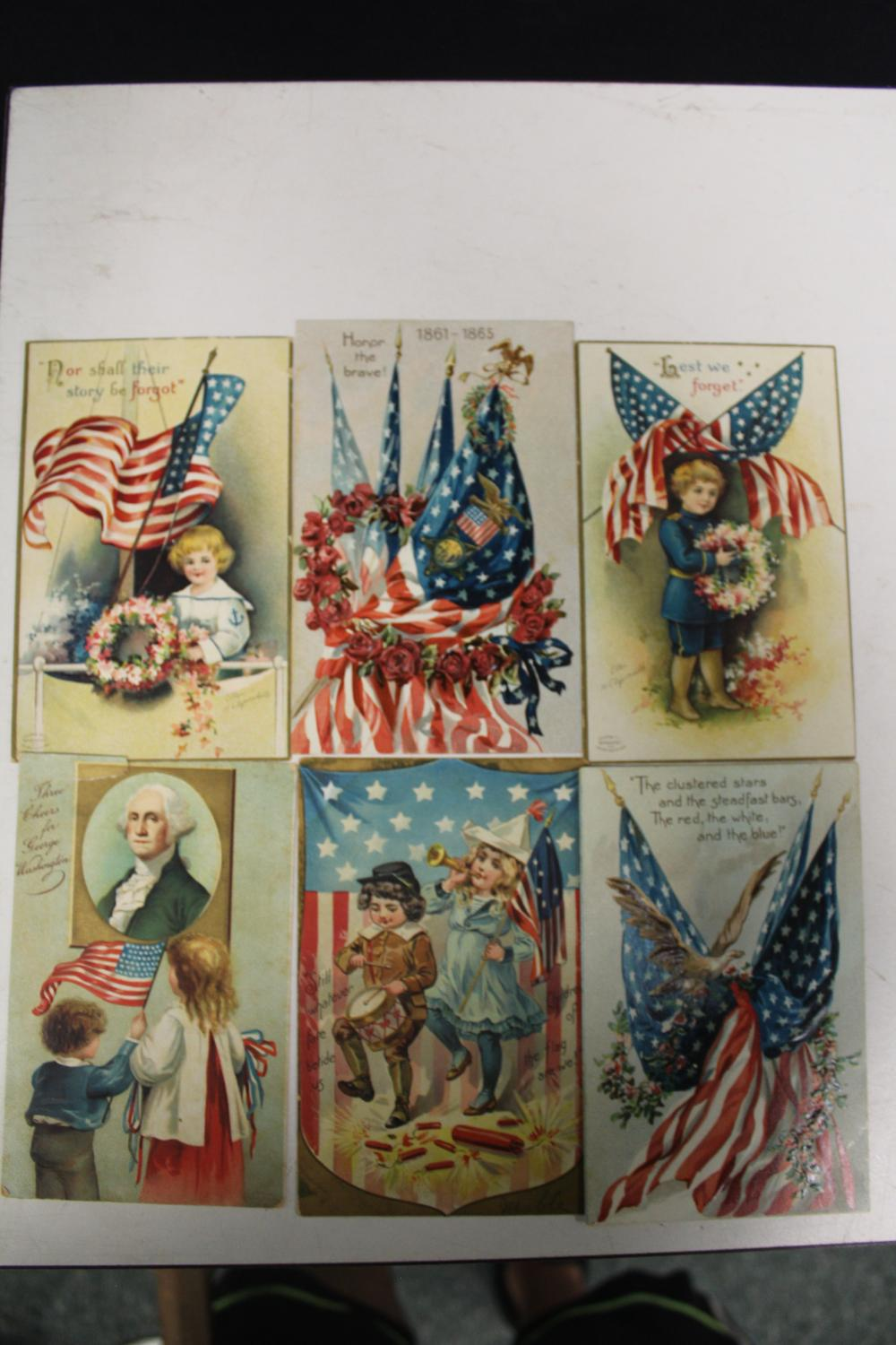 6 Fourth Of July Postcards