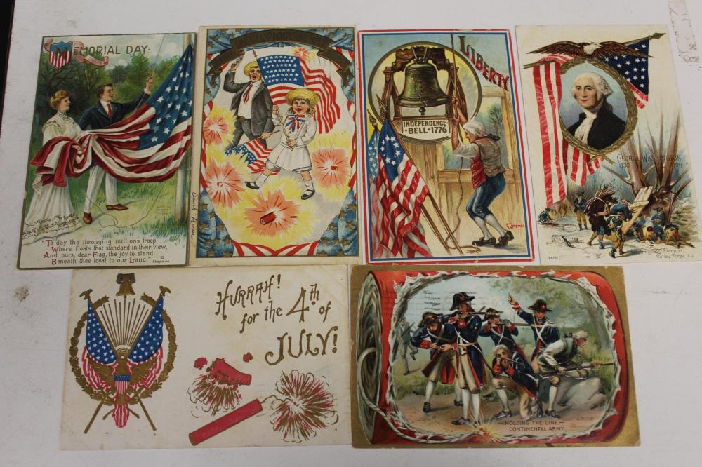 Lot of 6 Memorial Day and 4th of July Postcards
