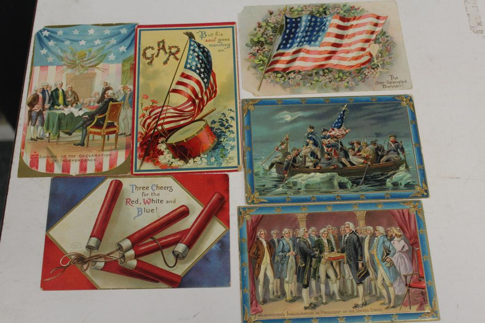 6 Independence Day Postcards