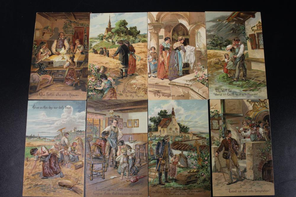 The Lords Prayer Collection of 8 Postcards