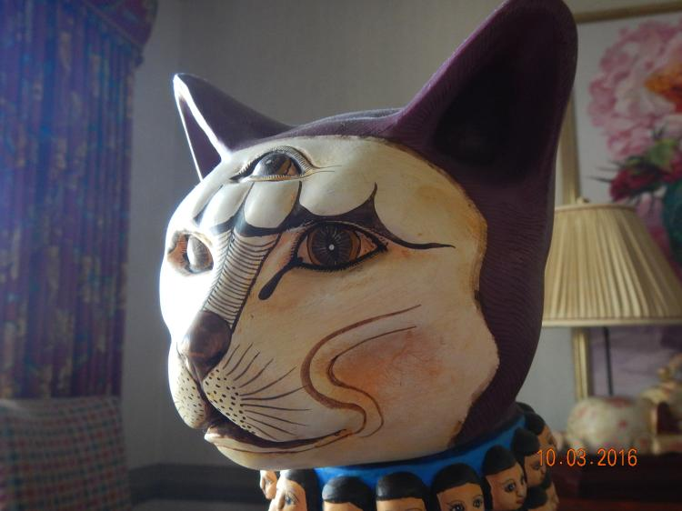 Purple cat Statue