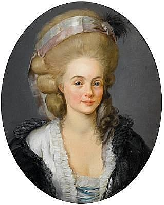 Follower of Alexander Roslin (Malmo 1718-1793 Paris) Portrait of a lady, bust-length, in a white dress with a black wrap and a silk headdress with a black feather