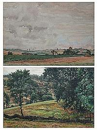 John Dobby Walker (British, Bradford 1866-1925 York) A Wooded landscape,