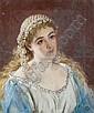 Follower of John Robert Dicksee (British, 1817-1905) Portrait of a young girl