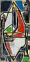 Gianna Persaki (Greek, 1921-2008) Lady closed within herself 132 x 63 cm