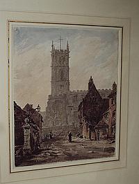 Rev. John Louis Petit (British, 1801-1868) 'Old Church, Wolverhampton'