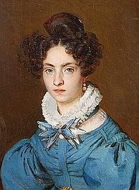 Joseph Berger (French, 1798-1870) Portrait of Madame Berger