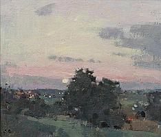 Stephen Brown, RBA (British, born 1947) 'Sunset Ham Hill'
