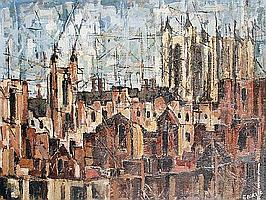 Oliver Bevan (British, born 1941) 'Eton buildings'