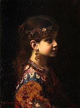 Alexei Alexeevich Harlamoff (Russian, 1840-1925) Gypsy girl