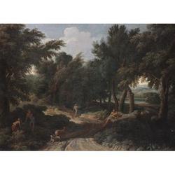 Studio of Gaspard Dughet, called Gaspard Poussin (1615-Rome-1675) 19 x 26 in. (48.2 x 66 cm.)unframed