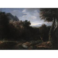 Studio of Gaspard Dughet, called Gaspard Poussin (1615-Rome-1675) 28 1/4 x 38 1/4 in. (71.7 x 96.5 cm.)