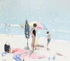 Stephen Brown (British, born 1947) Sunshades, Sidmouth