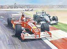 MICHAEL TURNER (BRITISH 1935-), '2002 FRENCH GRAND PRIX', signed and dat
