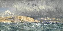 JOHN BRETT, ARA (BRITISH, 1831-1902) Off Old Harry's Rocks incised and