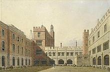 * GEORGE PYNE (BRITISH, 1800-1884) The Cloisters at Eton College sig
