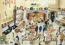AR Richard Adams (British, born 1960) The Kitchen