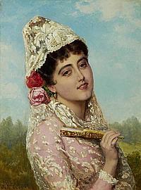 John Bagnold Burgess, RA (British, 1830-1897)