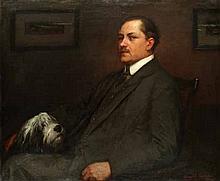 AR HAROLD KNIGHT, RA, ROI, RP (BRITISH, 1874-1961) - Portrait of a gentleman