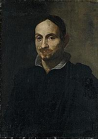 Circle of Alessandro Tiarini (Bologna 1577-1668) Portrait of a man, bust-length, wearing a black costume and white linen collar