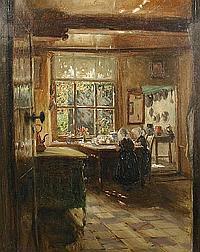 Walter J. Donne (British, born 1867) Dutch interior