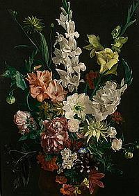 Ludwig Bartning (German, 1876-1956) Still life of flowers