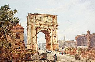 Augustus Burnett Stuart (British, 1850-1898) The Arch of Titus, Rome
