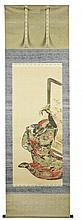 KO SUKOKU (1730-1804) AN EARLY AND RARE PAINTING OF THE HELL COURTESAN Edo