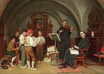John Bagnold Burgess, RA (British, 1830-1897) Choir practice