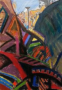 Oliver Bevan (British, born 1941) Climbing frame