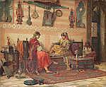 Jan Baptist Huysmans (Belgian, 1826-1906) La partie de dames