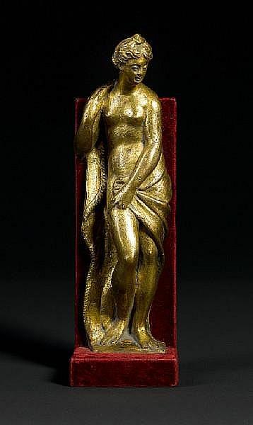 Circle of Girolamo Campagna (Italian, 1549- circa 1625): A gilt bronze figure of Venus