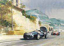 AR Michael Turner (British, 1935-), '1958 Monaco Grand Prix',