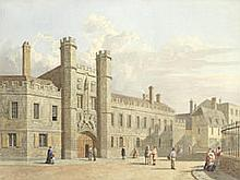 George Pyne (British, 1800-1884) Christ's College Fellows' Garden; The Great Gate, Christ's College each 21 x 27.9cm (8 1/4 x 11in).(2)