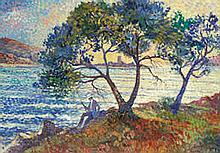 AR Lucien Neuquelman (French, 1909-1988) 'La côte et l'ile d'or'