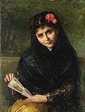 John Bagnold Burgess, RA (British, 1830-1897) A Spanish beauty