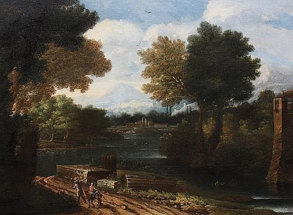 Follower of Gaspard Dughet, called Gaspard Poussin (Rome, 1615-1675) 51 x 64cm.