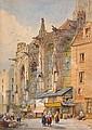 V. Perronet Sells (1851-1865) Bustling street scene at Caer