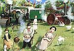 AR Richard Adams (British, born 1960) - The Steam Fair