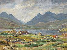 AR Herbert F. Royle (British, 1870-1958) Ardhasaig Crofts - North Harris