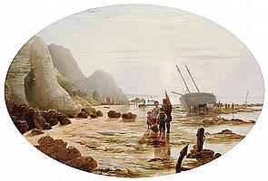 S. H. Filby (British, active 1864-1865) Beachcombers