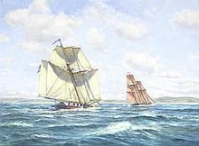 Roy Cross (British, born 1924) 'Chasing a Smuggler' unframed